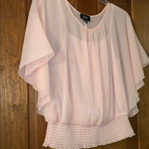 Shimmery blush pink blouse with tank xl juniors